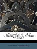 Grammatici Latini Ex Recensione Henrici Keilii, Volume 7, Heinrich Keil and Hermann Hagan, 124818520X