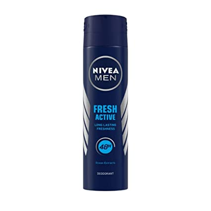 NIVEA MEN Fresh Active Original Deodorant, 150ml, Longlasting fragrance with Ocean Extracts