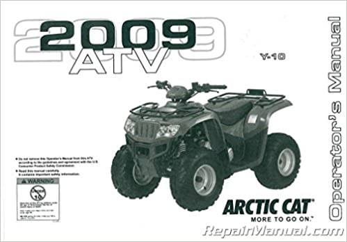 Book 2258-278 2009 Arctic Cat 90 DVX 90 Utility ATV Owners Manual