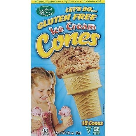 Conos de helado de Lets Do Gluten Free – 1,2 oz (2 paquetes ...