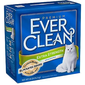 Ever Clean Extra Strength Cat Litter, Unscented, 25-Pound Box, My Pet Supplies
