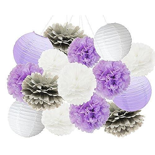 Baby Shower Decorations Purple Amazon