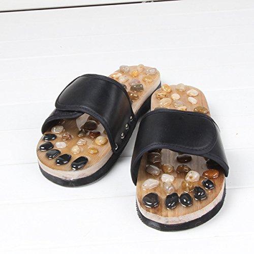 Black Nuevas Masaje Zapatos Masaje Factory 37 Black Slippers Direct De Jade 37 Zapatillas Home Summer Pebbles De rwrqS0O
