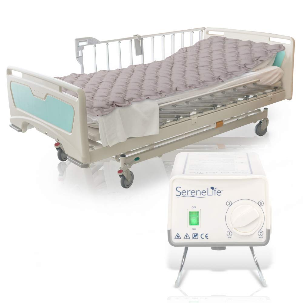 Pressure Mattress Air Bubble Pad - Includes Electric Pump System Quiet, Inflatable Bed Air for