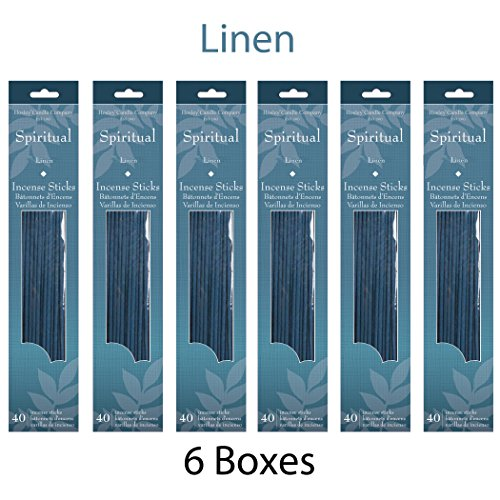 Hosley's Linen (Spiritual) Incense Sticks 240 Pack / Approx. 240 gm. Highly Fragranced Incense, Infused with Essential Oils. Ideal for Parties, Special Events, Spa, Aromatherapy O7