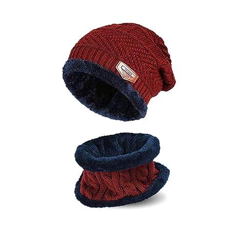 e0b5e8f6944 ImperialStation Bonnet d hiver Écharpe pour garçon Fille - (5-14 Ans ...