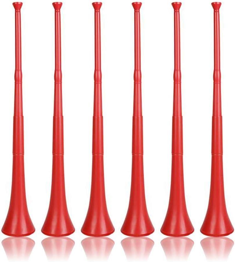 Vuvuzela - Cuerno plegable estilo sudafricano, color rojo por RIN: Amazon.es: Juguetes y juegos