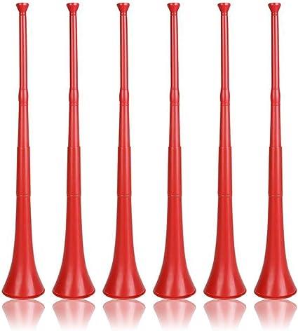 Red 1 Piece Stadium Horn HORN-RED Fun Express Loud Stadium Soccer Horn