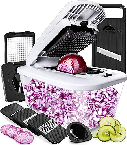 Fullstar Vegetable Chopper Mandoline Slicer with Large Glass Container
