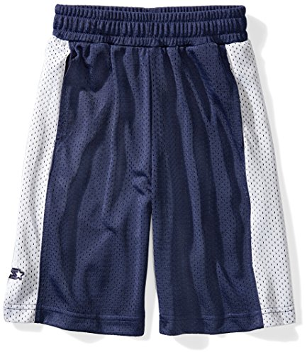 Throwback Mesh (Starter Boys' Mesh Basketball Shorts, Prime Exclusive, Team Navy with White Stripe, L (12/14))