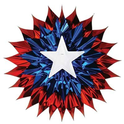 [Patriotic Fan-Burst (red, white, blue) Party Accessory  (1 count) (1/Pkg)] (Patriotic Group Costumes)