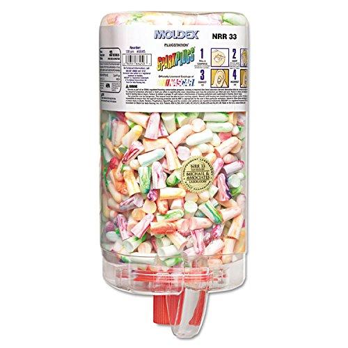 (Moldex 6645 SparkPlugs PlugStation Earplug Dispenser, Cordless, 33NRR, Asst, 500 Pair)