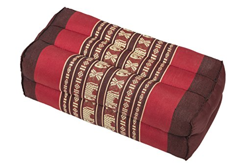 Meditation Cushion & Yoga Prop, 100% Kapok (Red Elephants). By Kapok-Dreams.