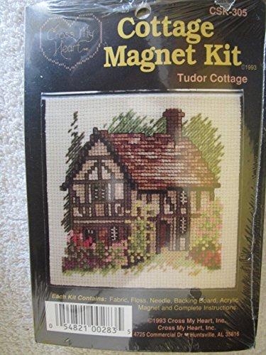 (Tudor Cottage Cross Stitch Magnet KIt)