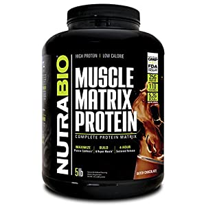 NutraBio Muscle Matrix Whey Protein Blend (Chocolate, 5 Pounds)