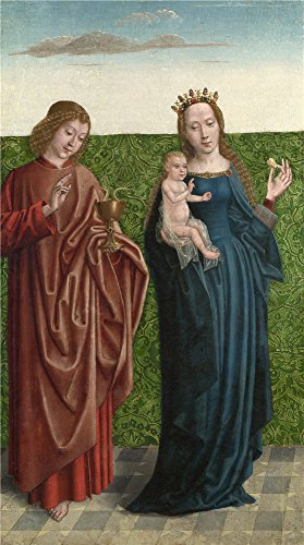 ('Master of the Saint Bartholomew Altarpiece Saints Peter and Dorothy (1) ' oil painting, 12 x 22 inch / 30 x 55 cm ,printed on polyster Canvas ,this Amazing Art)