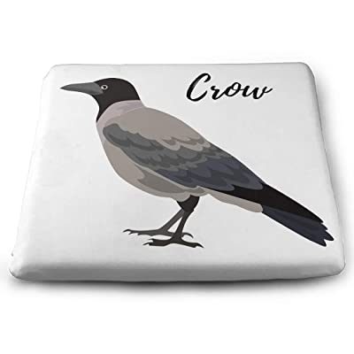 Tinmun Square Cushion, Gray Crow Bird Hooded Animal Large Pouf Floor Pillow Cushion for Home Decor Garden Party: Home & Kitchen