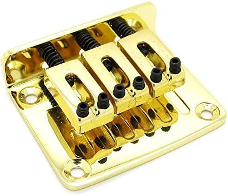 Adjustable 3 String Guitar Tailpiece Bridge Guitar Parts Golden