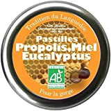 Pastilles bio à la propolis, miel et eucalyptus pour la gorge 45g