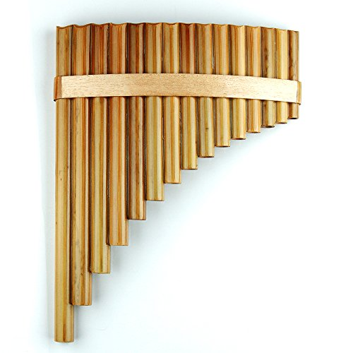 Chinese Music Instrument (15 Pipes Pan Flute G Key Chinese Traditional Musical Instrument Pan Pipes Woodwind Instrument (15 right))