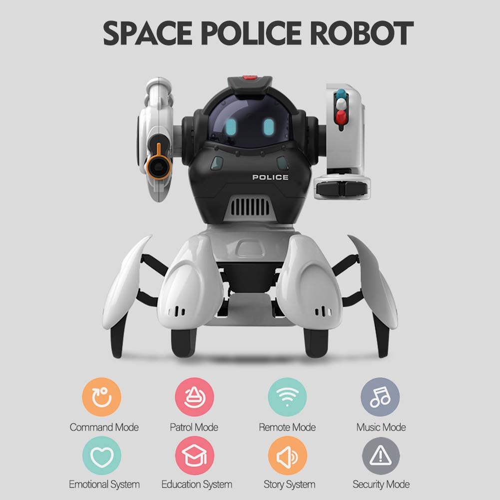 Sparkler Remote Contol Intelligent Robot Toy for Kids with 5 Modes and Fun Voice, Rechargeable Smart Robotics Kit Space Police Starbot by Sparkler (Image #2)