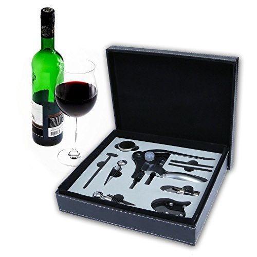 iMounTEK 9 Piece Wine Accessory Gift Box Includes CorkScrew