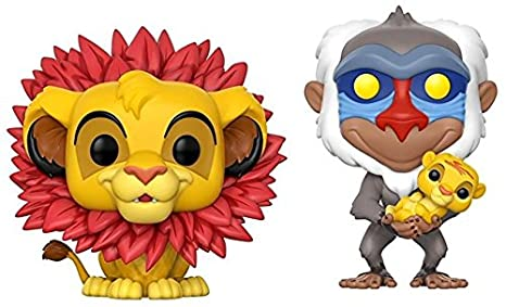 The Lion King: Simnba + Rafiki w/ Simba - Disney Vinyl Figure Set NEW: Amazon.es: Juguetes y juegos