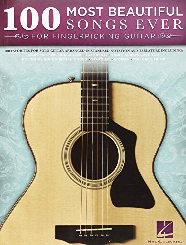 100 Most Beautiful Songs Ever for Fingerpicking Guitar Solo Tab Bk by (2014-10-20)