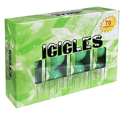 ICICLES Women's V Golf Ball, Green