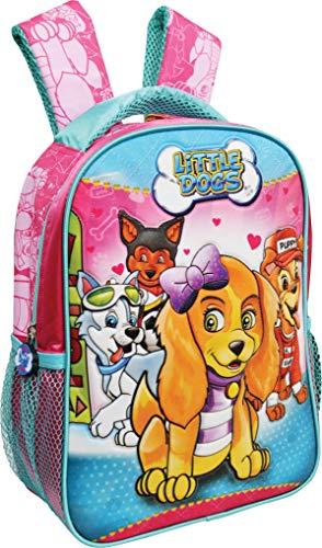 Mochila Escolar, Cachorros, Kit, 595698, Rosa