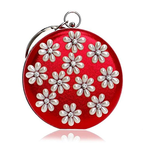NVBAO Party Clutch Women Flower Wedding Shoulder Evening Dress Handbag Bags vxqvgCr