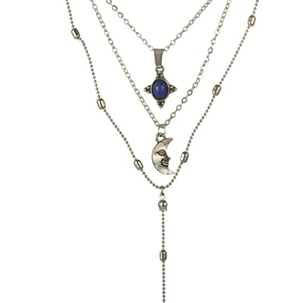 Amazon.com  BOLUOYI Necklaces for Women Silver 2be54c5f5807