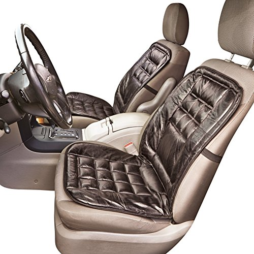 Leather Elastic Strap Car Seat Cushion Black