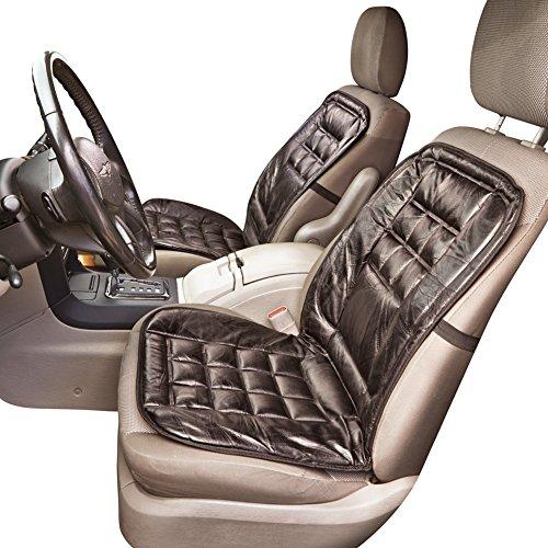 Leather Elastic Strap Car Seat Cushion Black