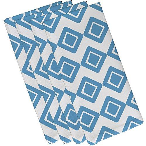 E by design Diamond Jive 1 Geometric Print Napkin 19 x 19 Light Blue