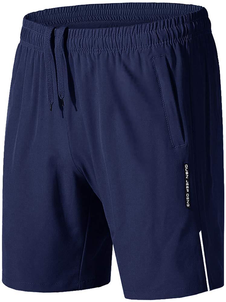 TALLA 38. TACVASEN Hombres Shorts de Secado Rápido Pantalones Cortos de Entrenamiento de Gimnasio de Fitness con Bolsillos con Cremallera