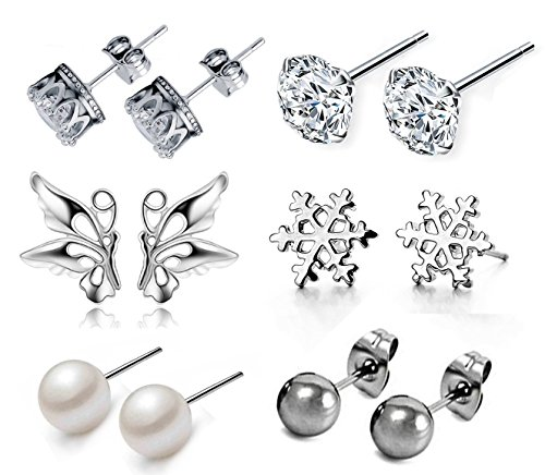 Suyi Exquisite Stainless Crystal Earrings