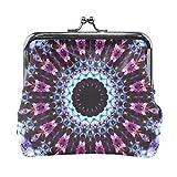 Coin Purse Kaleidoscope Mandala Wallet Buckle Clutch Handbag For Women Girl Gift