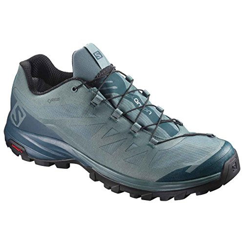 Salomon Outpath GTX, Chaussures de Randonnée Basses Homme, Vert, 12.5 UK North Atla / Reflecting