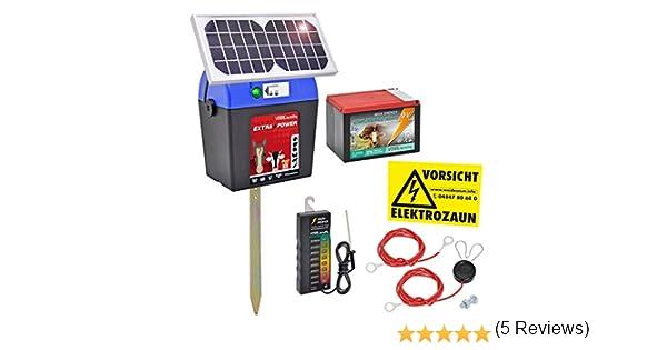 VOSS.farming Kit Pastor eléctrico Solar Extra Power 9V con ...