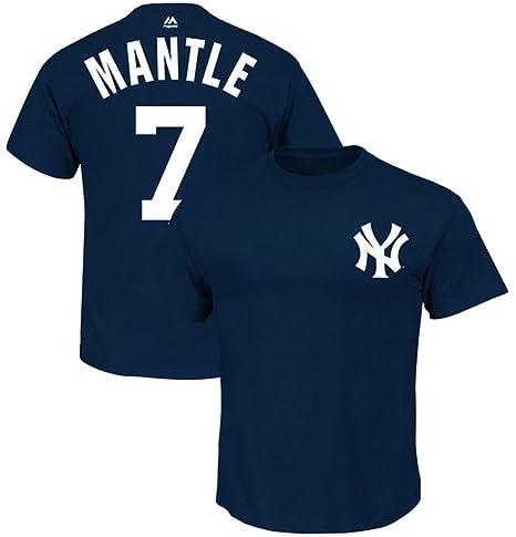 New York Yankees MLB Mens Mickey Mantle  7 Player Shirt Navy Blue Big   Tall 493e6b5032d