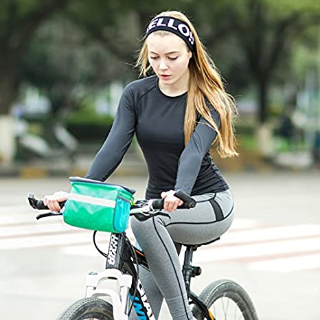 TINTON LIFE Waterproof Bicycle Handlebar Bag with Transparent Pouch and Adjustable Strap High-Capacity Cycling Front Pack