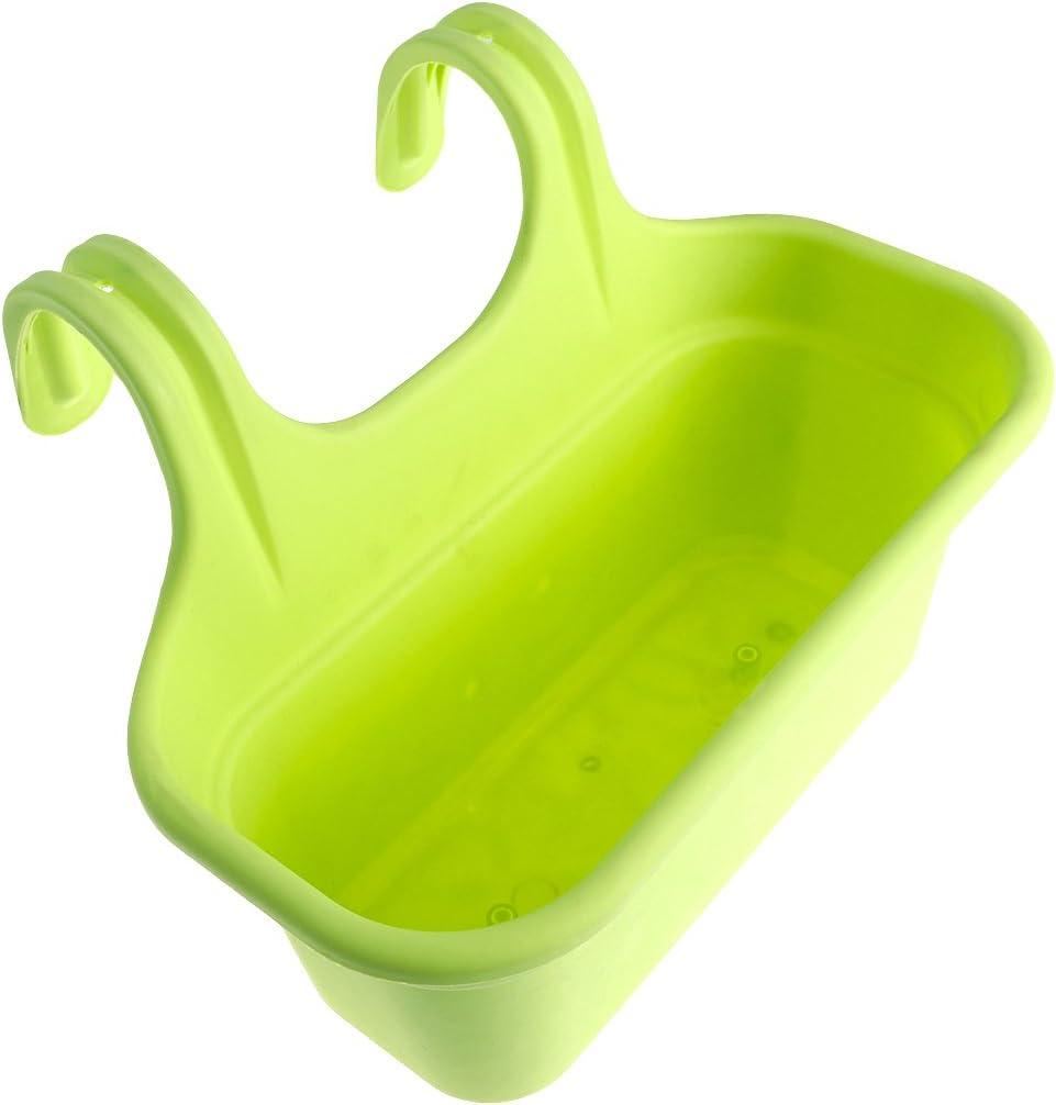 Verde Yardwe Vasi da Balcone in plastica per Piante da Interno o da Esterno fioriere da Balcone da Appendere per Decorazioni da Giardino 36.5 x 18 x 25.5 cm