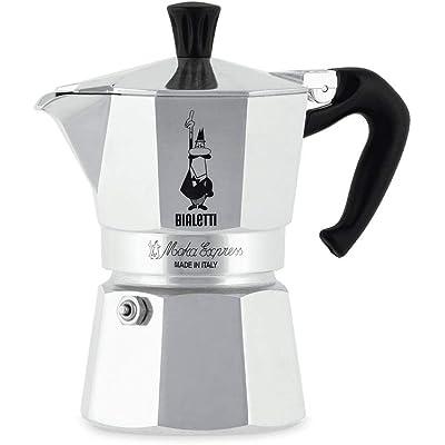 Bialetti Moka Express, Cafetera Italiana Espresso, Aluminio, 1 Taza