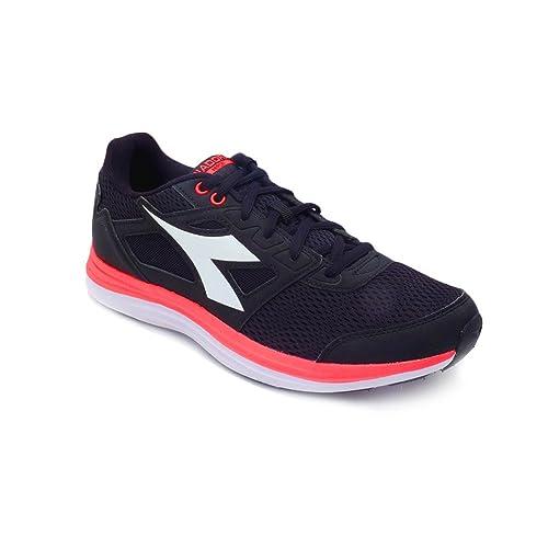 Diadora - Zapatillas de gimnasia de Lona para hombre negro negro / rojo: Amazon.es: Zapatos y complementos