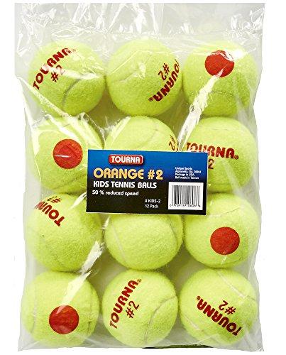 (Tourna Low Compression Quickstart Tennis Balls for 60-Feet Court (Pack of 12))