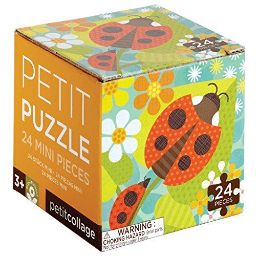 Petit Collage Petit Puzzle, Ladybugs (Bugs 24 Piece)