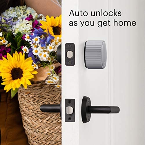 August Wi-Fi Smart Lock – Alexa, Google Assistant, HomeKit, SmartThings and AirBnb compatible – Upgrade your deadbolt – Silver 51DHWSyeKWL