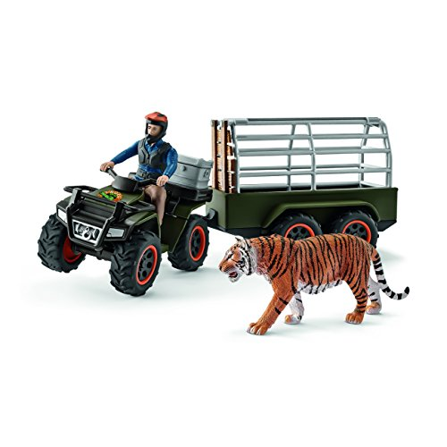 Schleich Wild Life Quad Bike with Trailer & Ranger