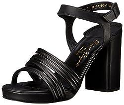 Robert Clergerie Women's Alira Dress Sandal, Black, 36.5 EU/6 B US